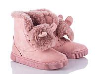 Зимние стильные женские угги-ботинки пудра (р36-41)