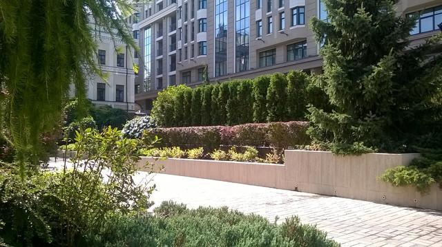 """Капельный полив зелёных насаждений на территории гостиницы """"Интерконтиненталь"""" InterContinental Kyiv"""