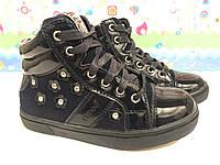 Черные ботинки для девочки 25-30