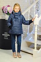Куртка со съемными манжетами и капюшеном МИЛЕДИ джинс