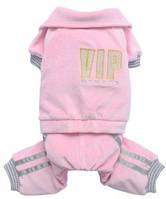 Спортивный костюм для собак М розовый VIP