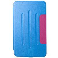 Чехол-книжка для Samsung Galaxy Tab 4 SM-T230 пластиковая накладка Folio Cover Голубой