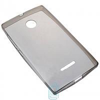 Чехол силиконовый Slim Nokia Lumia 435 затемненный