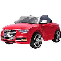 Детский электромобиль -Tilly Audi S5 - компактный, свето-звуковые эффекты Красный