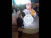 Уличное праздничное освещение разноцветной светодиодной лентой с программным управлением герметичной трубке 1m