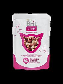 Brit Care Cat Pouches Chicken & Duckс куриным мясом и уткой, 80 гр