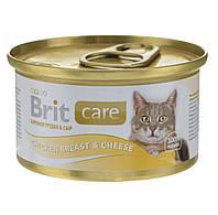 Brit Care Chicken Breast & Cheeseдля взрослых кошек, 80г