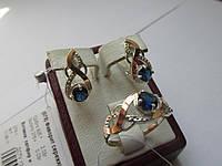 Серебряный комплект из золотыми накладками Фаворит