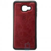 Чехол силикон-кожа Pierre Cardin Samsung A7 2016 A710 красный