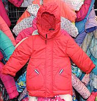Куртка на мальчика Еврозима флис+синтепон (4 размера) Красная