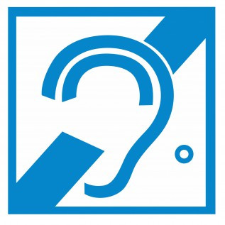 Наклейка Доступность для инвалидов по слуху