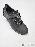 Кожаные мужские спортивные туфли черные ecco b52