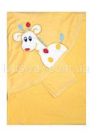 """Полотенце уголок для купания """"Жираф"""", желтое"""