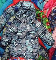 Куртка на мальчика Еврозима флис+синтепон (4 размера) Голубая стрела