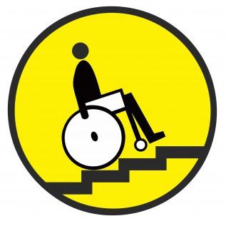 Наклейка Осторожно! Лестница вверх