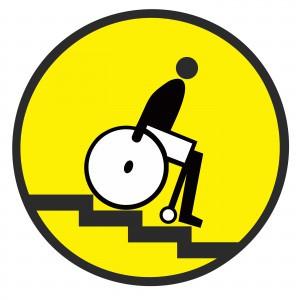Наклейка Осторожно! Лестница вниз