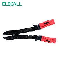 Клещи для снятия изоляции, обрезки проводов и обжима клемм Elecall FS 051