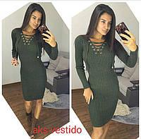 Женское модное платье с шнуровкой (3 цвета), фото 1