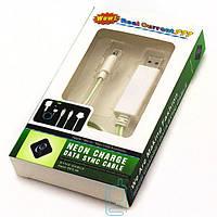 USB-Micro USB шнур Neon Charge Led для Samsung White