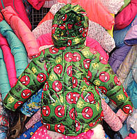 Куртка на мальчика Еврозима флис+синтепон (4 размера) Зеленый паук