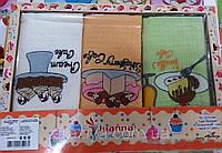 Турецкие вафельные кухонные полотенца в подарочной упаковке