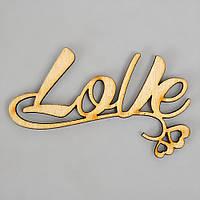 "Слова из дерева ""LoVe"" - 9,5 х 5,4 см"