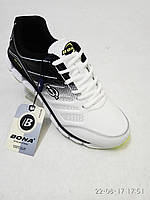 Кожаные мужские кроссовки BONA бел