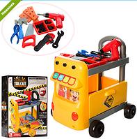 Детский игровой набор инструментов Тележка-машина W054