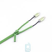 USB шнур Zipper Lightning and Micro USB зеленый