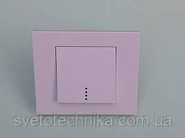 Выключатель одноклавишный OVIVO Grano с подсветкой  (белый)