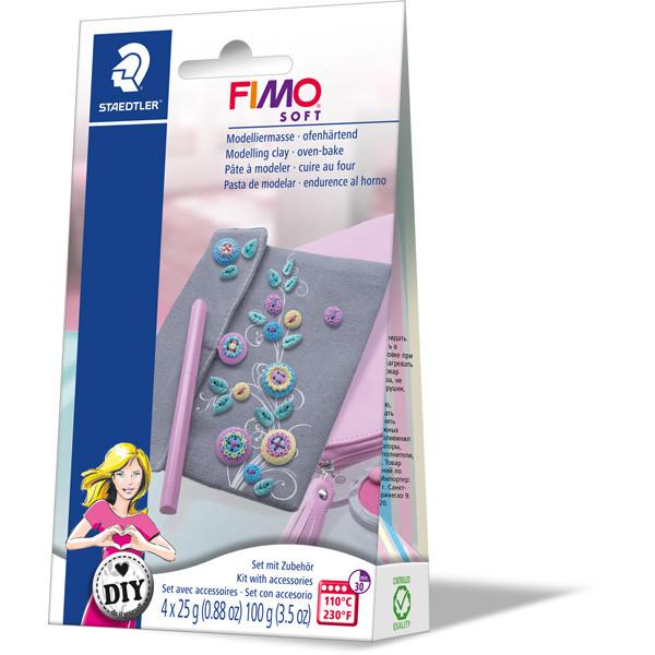 """Набор глины Фимо Софт FIMO Soft """"Сумочка"""", 4блока глины для лепки, сумочка,инструкция"""