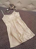 Сорочка атласная айвори