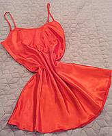 Сорочка атласная цвет красный