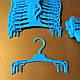 """Вешалки плечики бельевые бирюзовые (""""гребенка"""") для нижнего белья, фото 4"""