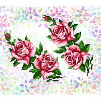 K 202 Розы. Confetti. Водорастворимый флизелин с рисунком