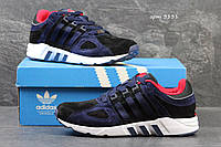 Мужские кроссовки Adidas EQT, замшевые, темно-синие
