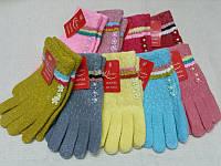 S Детские зимние перчатки шерстяные с начосом Douhia