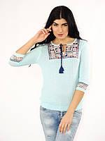 Трикотажная женская блузка кофта тонкой вязки отличное качество