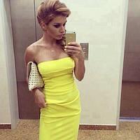 Платье желтый тюльпан ар09