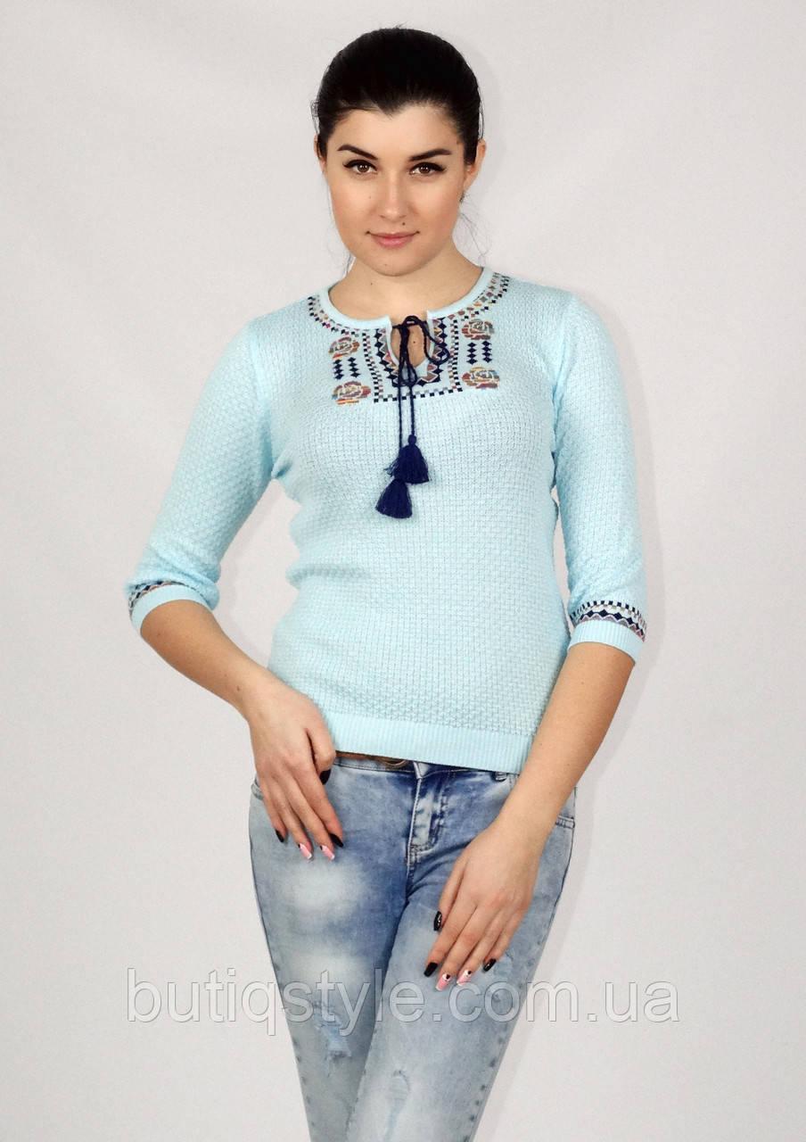 c0962322880 Трикотажная женская блузка кофта тонкая вязка отличное качество -