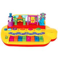 KiddielandPreschool Развивающая игрушка ЗВЕРЯТА НА КАЧЕЛЯХ пианино (свет,звук) (Kiddieland )