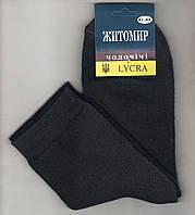 Носки мужские махровые х/б Житомир LYCRA, Украина, чёрные, 41-43 размер, 0513