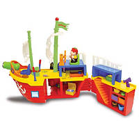 KiddielandPreschool Развивающий игровой набор  ПИРАТСКИЙ КОРАБЛЬ (на колесах,свет,звук) (Kiddieland )
