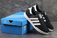 Мужские кроссовки Adidas Beckenbauer Allround, замшевые, темно-синие