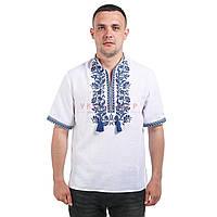 Мужская вышитая рубашка с коротким рукавом, фото 1