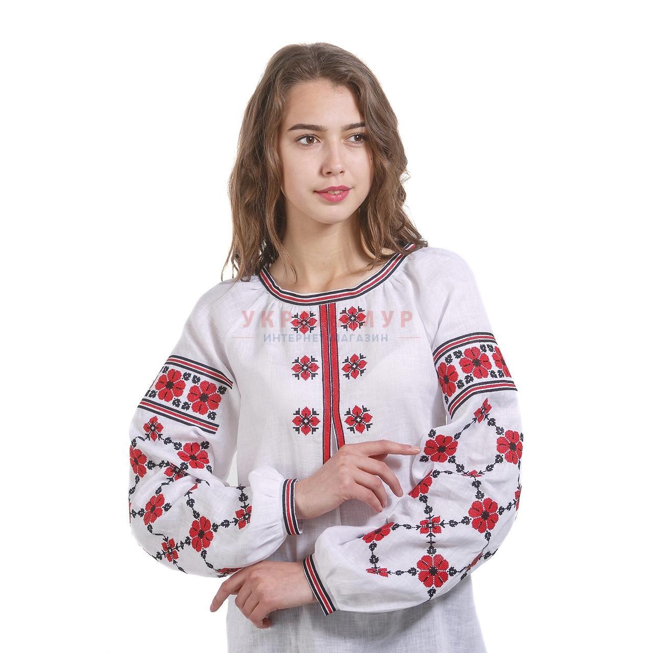 1e2897ae3340ba1 Купить Белая вышитая дизайнерская женская рубашка в Киеве, цена ...
