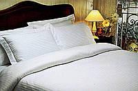Постельное белье Tivolyo Home  Jacquard Stripe полуторный белый