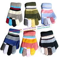 Перчатки для мал/дев ZinA-22 акрил 12 шт (5-7 лет)