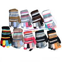 Перчатки для мал/дев ZinA-12 акрил 12 шт (8-12 лет)