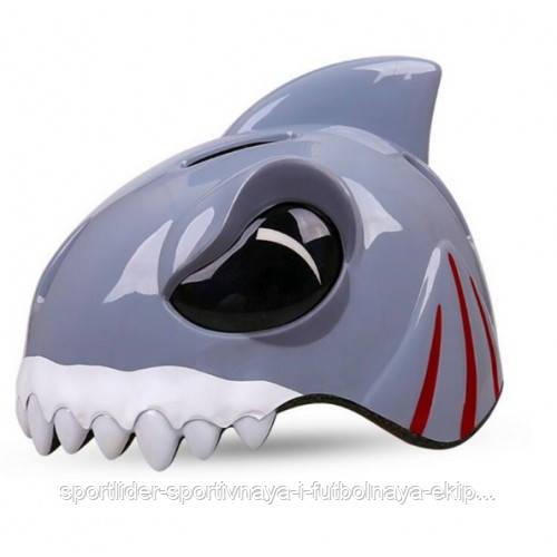 Шлем детский защитный с фонариком (белая акула) - Спортлидер› спортивная и футбольная экипировка, обувь, мячи, форма, бутсы, сумки, аксессуары в Киеве
